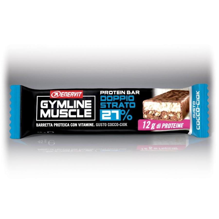 Enervit Gymline Muscle Protein Bar 27% Doppio Strato Cocco-Ciok 45 gr
