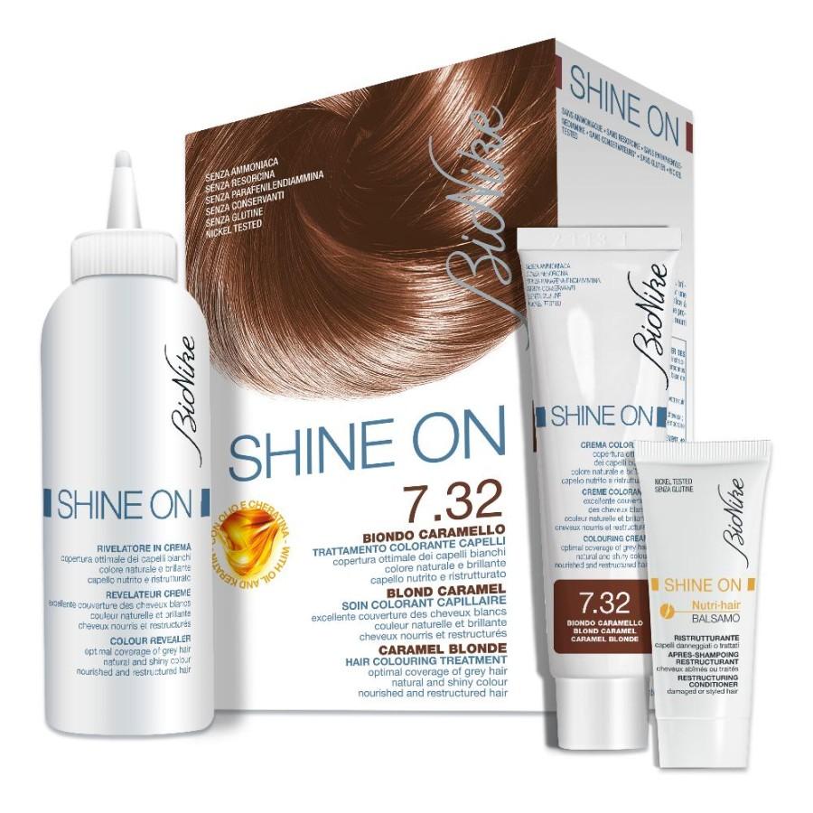 BioNike Shine ON Tintura per Capelli Cute Sensibile 7.3 Biondo Dorato
