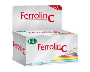 Esi Ferrolin C Integratore Alimentare Vitamine e Minerali 30 Capsule