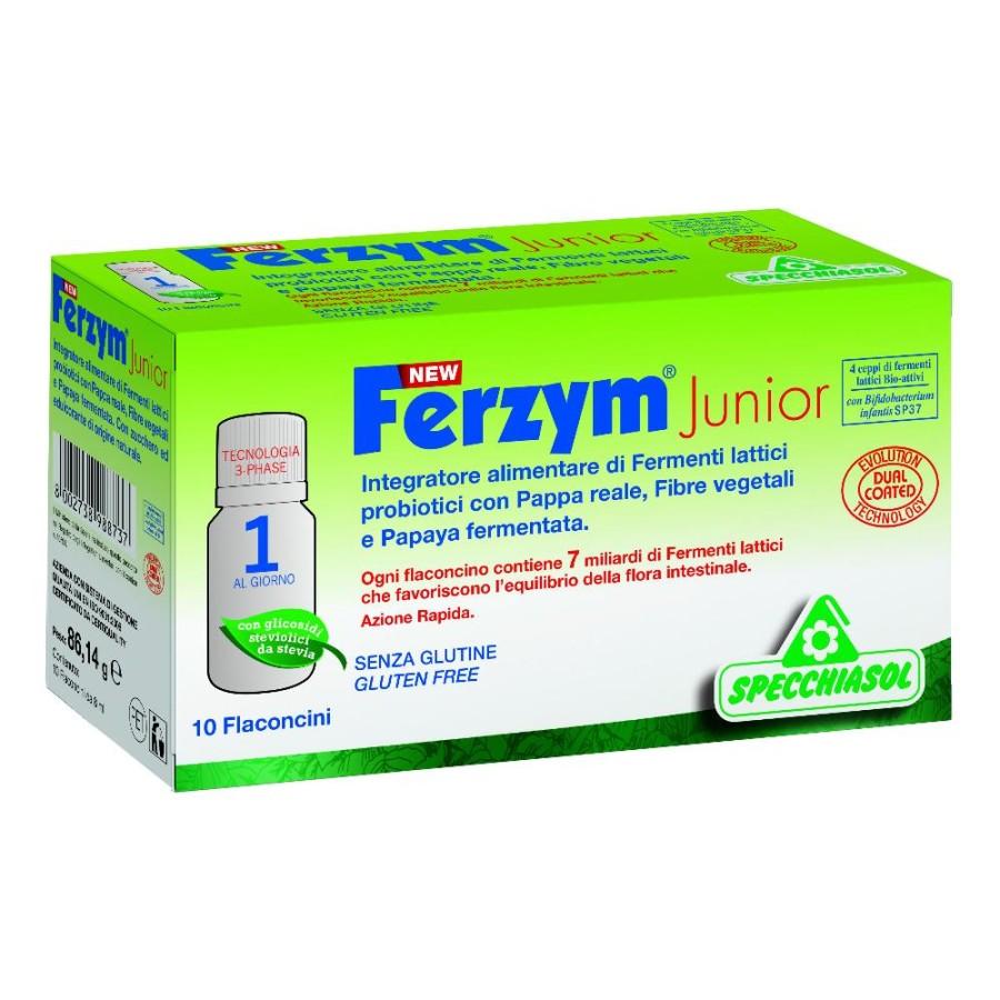 Specchiasol Ferzym Junior 10 Flaconcini Integratore alimentare  8 ml New