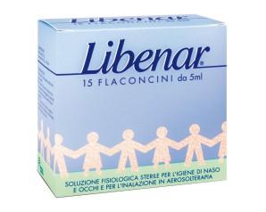 Libenar  Pulizia e Salute del Naso Soluzione Fisiologica 15 Flaconcini 5 ml