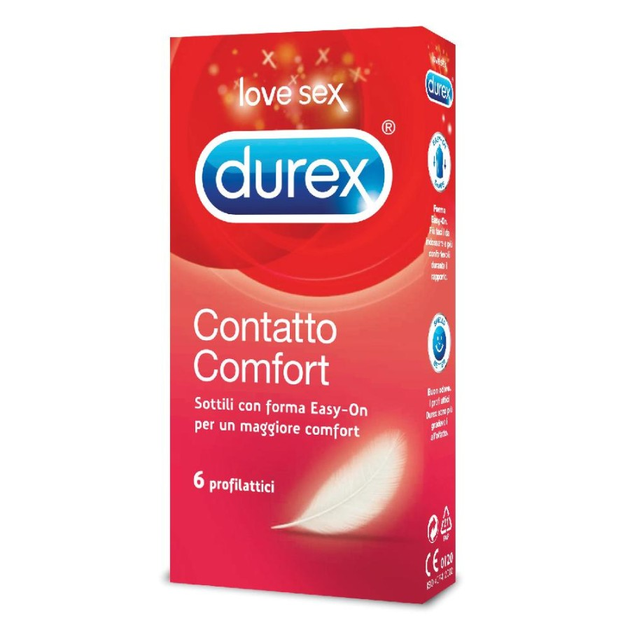 Durex Feeling Contatto Comfort Profilattici Confezione con 6 Profilattici