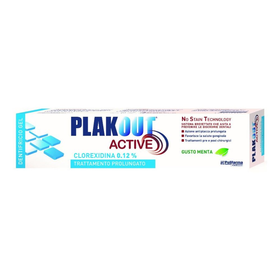 Polifarma Plakout Active 0,12 Dentifricio  Igiene Dentale Quotidiana 75 ml