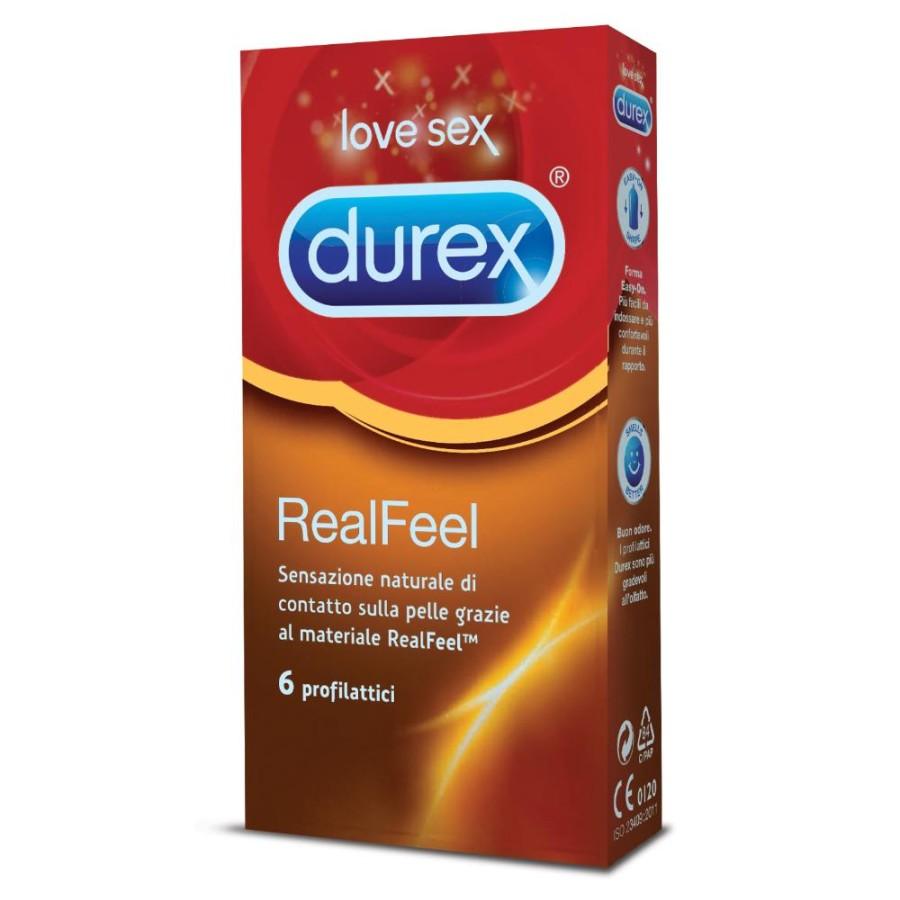 Durex Feeling Contatto RealFeel Confezione con 6 Profilattici