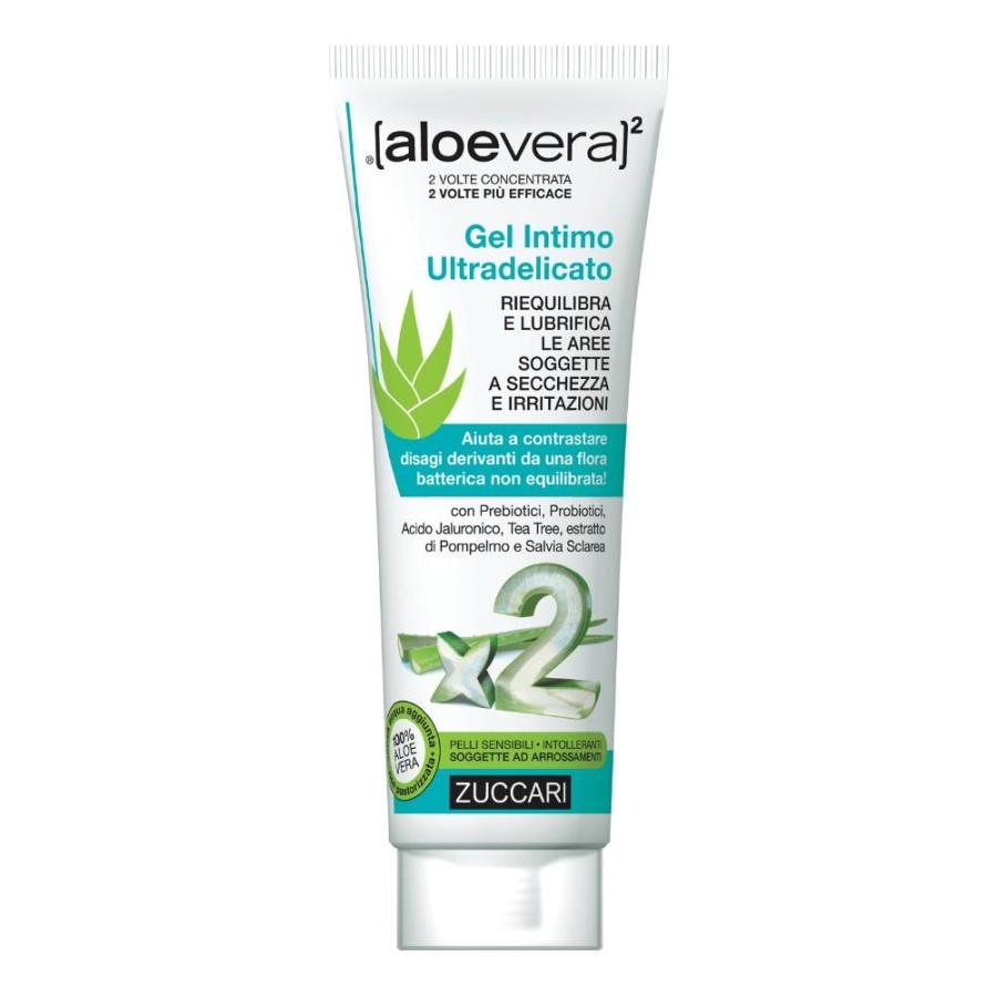 Zuccari aloevera2 Gel d'Aloe Trattamento Intimo Lenitivo Lubrificante 80ml