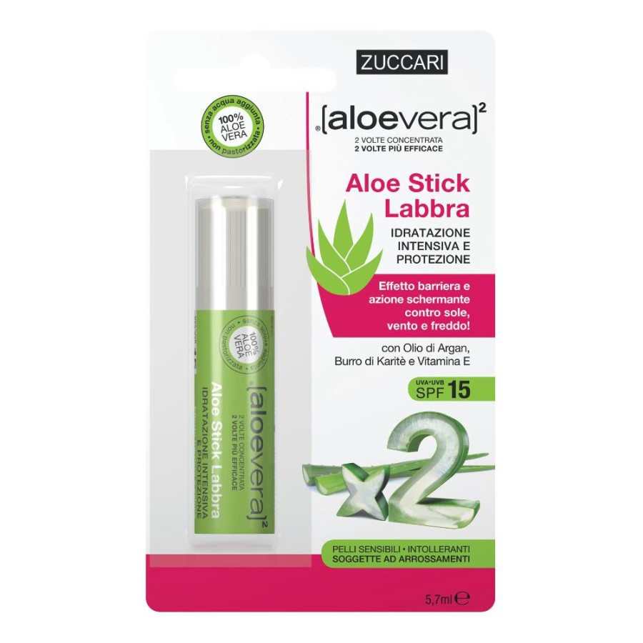 Zuccari Aloevera2 Aloe Stick Labbra Spf 15 Idratazione Intensiva 5,7 ml