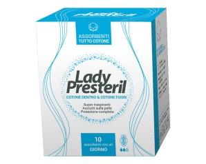Lady Presteril Cotton Power Giorno Pocket Pro Assorbenti Donna 10 Pezzi
