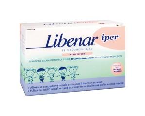 Libenar Soluzione Ipertonica 18 Flaconcini Pulizia e Salute del Naso 5 ml