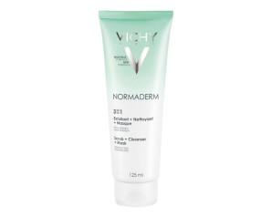 Vichy Normaderm Tri-Activ 3 in 1 Detergente Esfoliante Maschera 125 ml