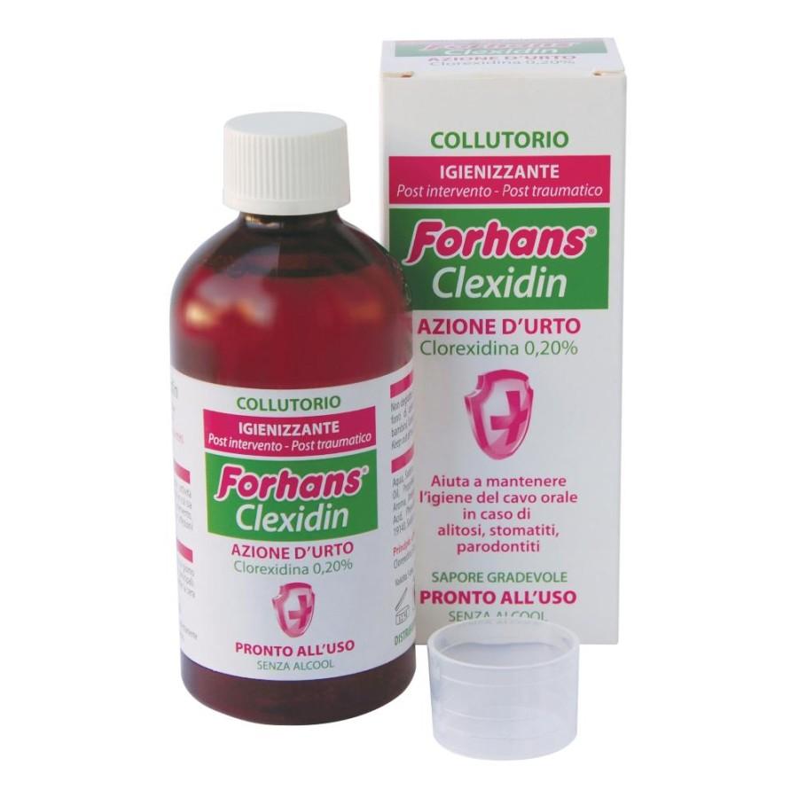 Forhans Clexidin 0,20% Collutorio Antisettico Pronto All'Uso 200ml