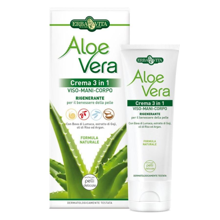 Erba Vita Aloe Vera Crema 3 In 1 Viso Mani Corpo 200ml