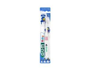 GUM  Igiene Dentale Bambini Baby 0-2 Anni Spazzolino Delicato
