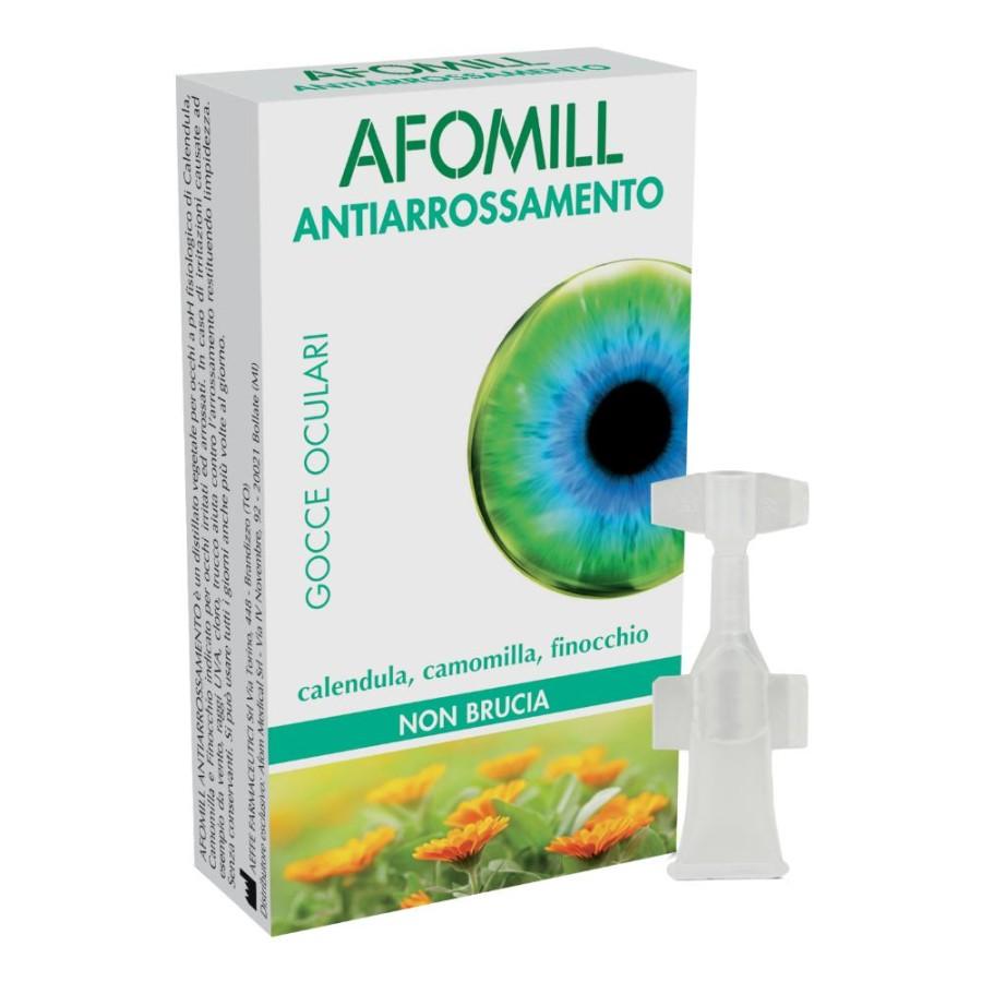 Afomill Gocce Oculari Antiarrossamento 10 Flaconi 0,5 ml