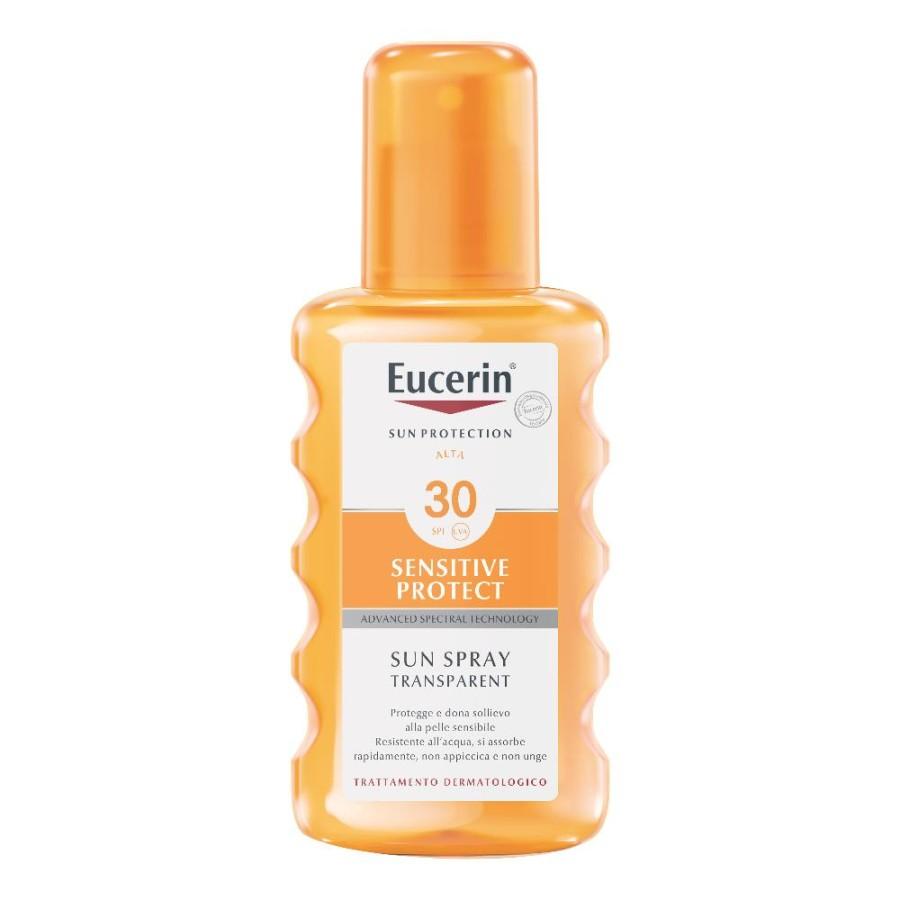 Eucerin  Solare Pelli Sensibili SPF30 Lozione Trasparente Spray 200 ml