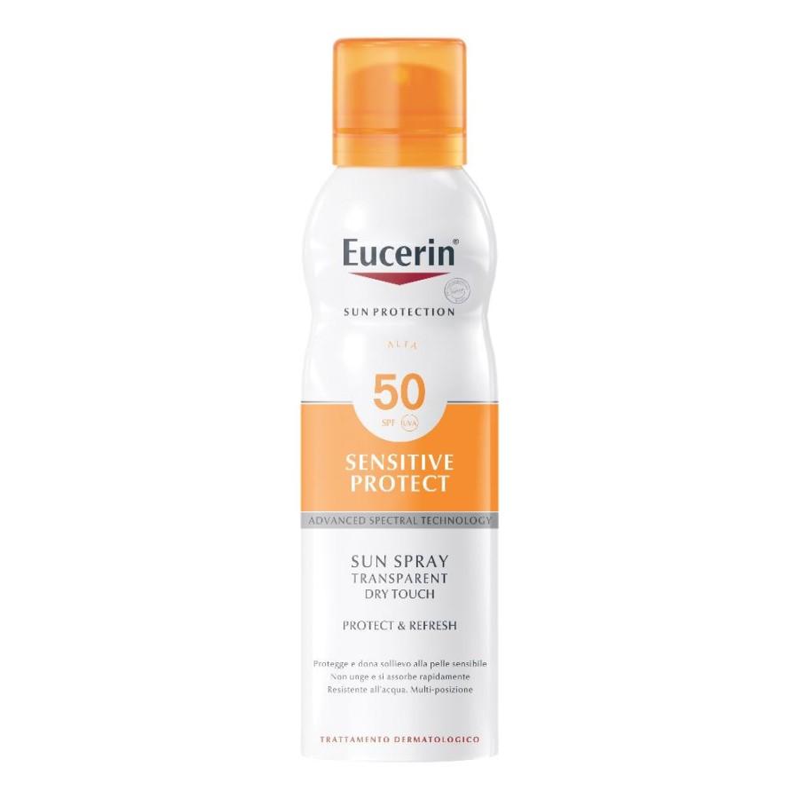 Eucerin  Solare Pelli Sensibili SPF50 Lozione Trasparente Spray 200 ml