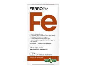 Erba Vita  Vitamine e Minerali FerroEV Integratore Alimentare 60 Capsule