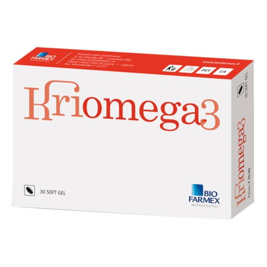 Biofarmex srl Biofarmex Kriomega 3 30 Capsule Softgel