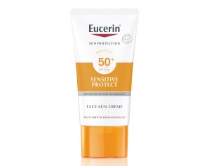 Eucerin  Solare Pelli Sensibili SPF50 Crema Viso Pelli Normali Secche 50 ml