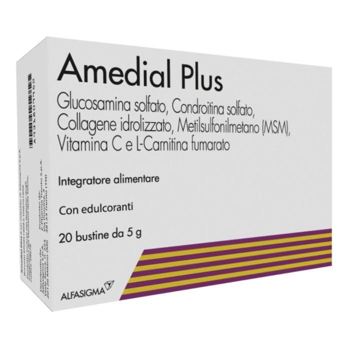 Amedial Plus Glucosamina Collagene Integratore Alimentare 20 Buste