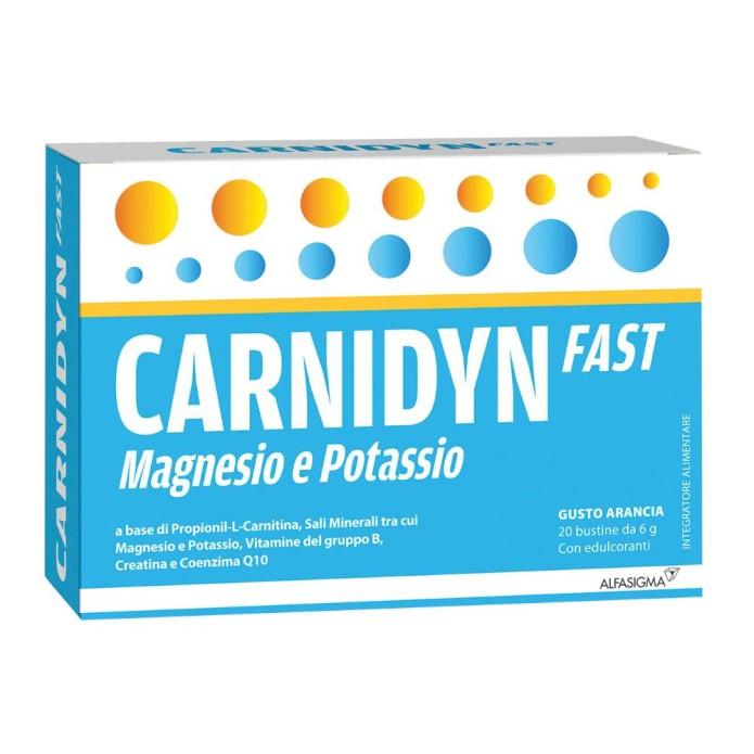 Alfasigma Carnidyn Fast Magnesio/potassio 20 Bustine