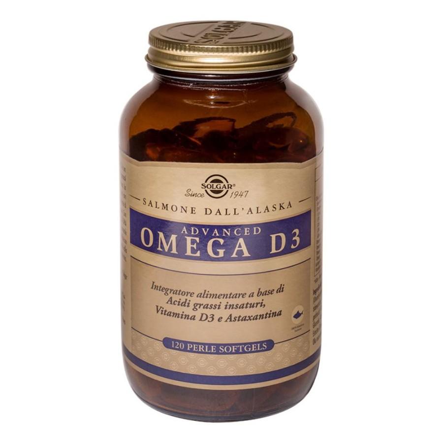 Solgar  Advanced Omega D3 Integratore 120 Perle