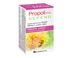 Propoli Mix Defend Junior 45 Tavolette Masticabili Gusto Panna E Fragola