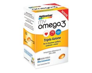Multicentrum My Omega3 Integratore Alimentare  Colesterolo 60 Mini Perle