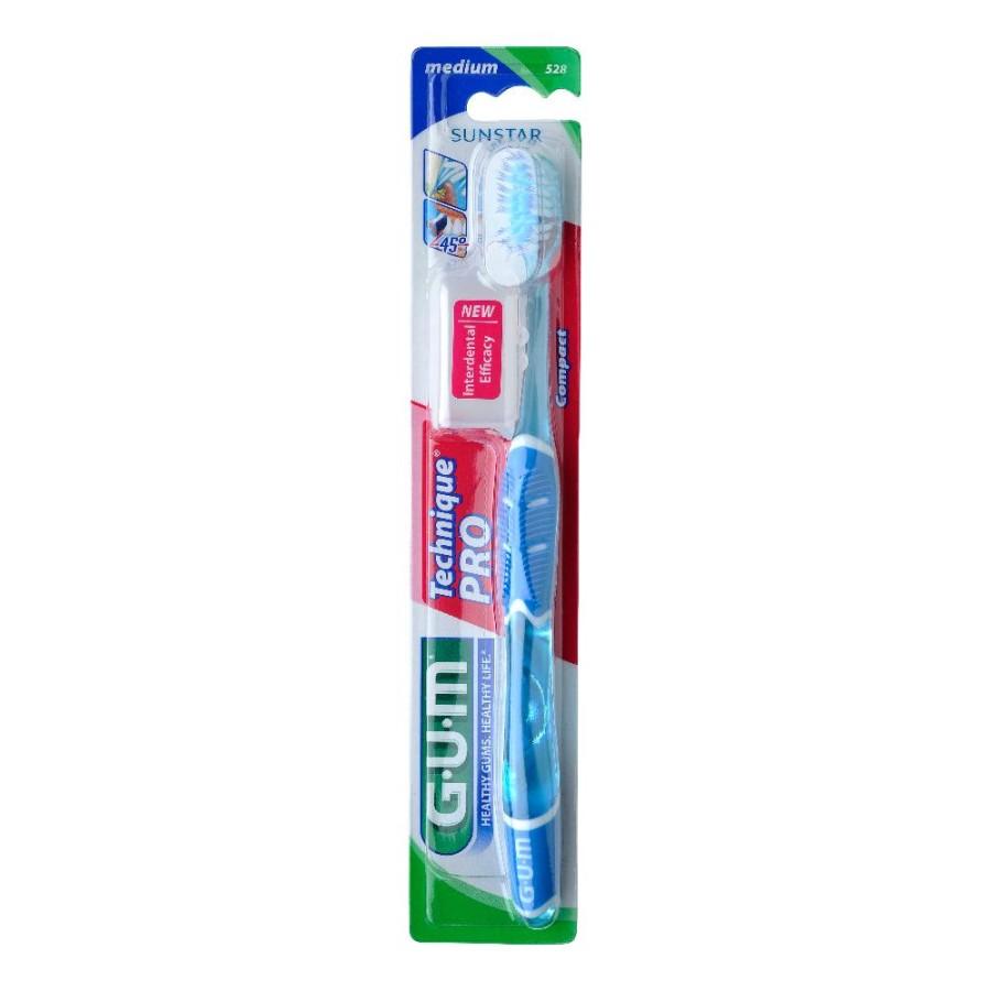 GUM Technique Pro 528 Spazzolino Medio Compatto Igiene Dentale Quotidiana
