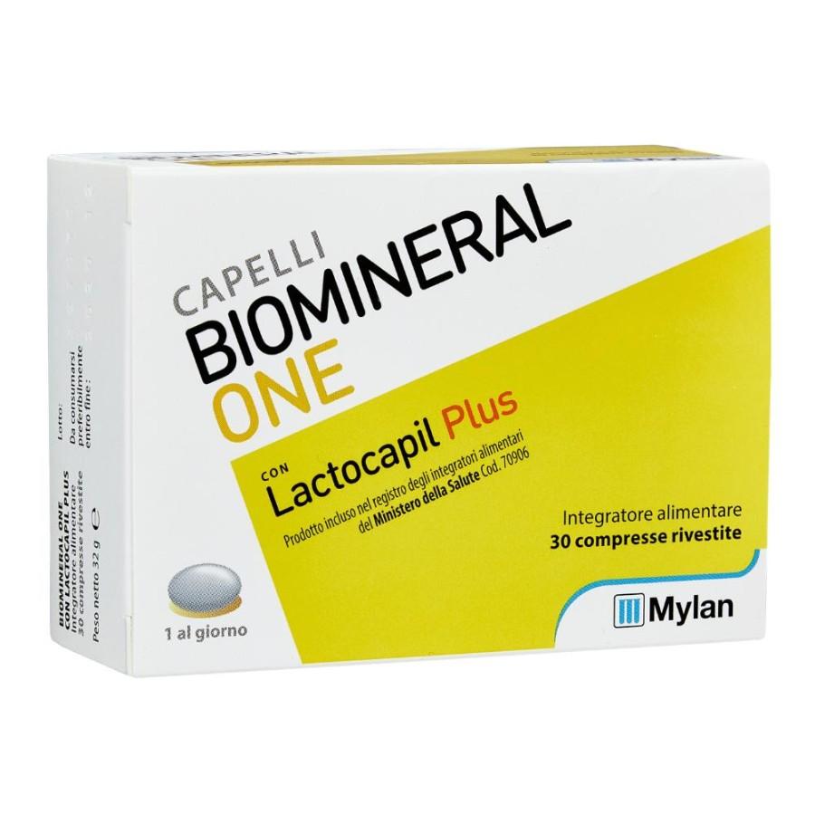 Biomineral  Hair Terapy One con Lactopil Plus Capelli Deboli 30 Compresse