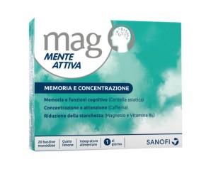 Sanofi Aventis Memoria Concentrazione Mag Mente Attiva Integratore 20 Bustine