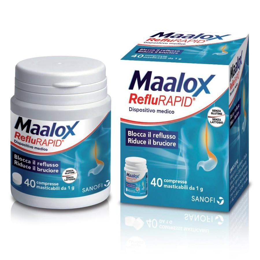 Sanofi Aventis Maalox RefluRAPID 40 Compresse Masticabil  Apparato Gastrico