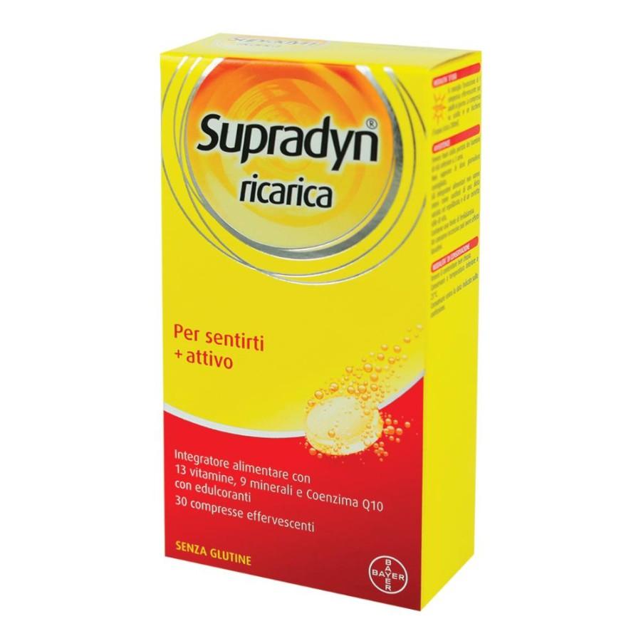 Supradyn Ricarica Integratore  Vitamine Minerali 30 Compresse Effervescenti
