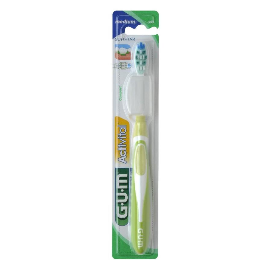 GUM Activital 583 Compatto Spazzolino Medio  Igiene Dentale Quotidiana