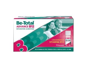 Betotal  Vitamine e Minerali Be-Total Advance B12 Integratore 15 Flaconcini