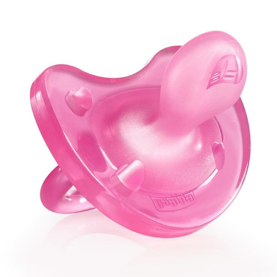 Chicco Gommotto Physio Soft Rosa Sil 6-12