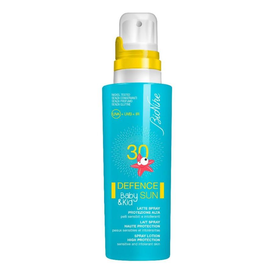 Bionike Defence Sun Baby E Kid Latte Solare Spray Spf 30 125 ml