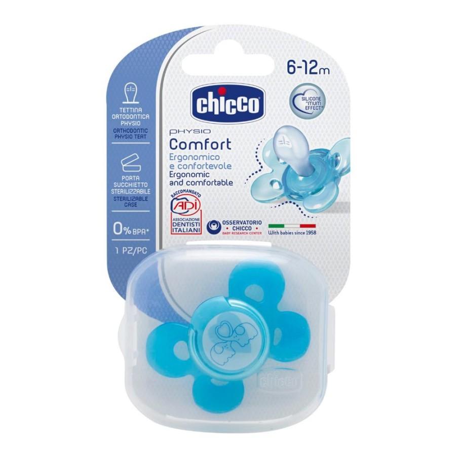 Chicco Succhietto Comfort Boy Silicone 6-12 Mesi