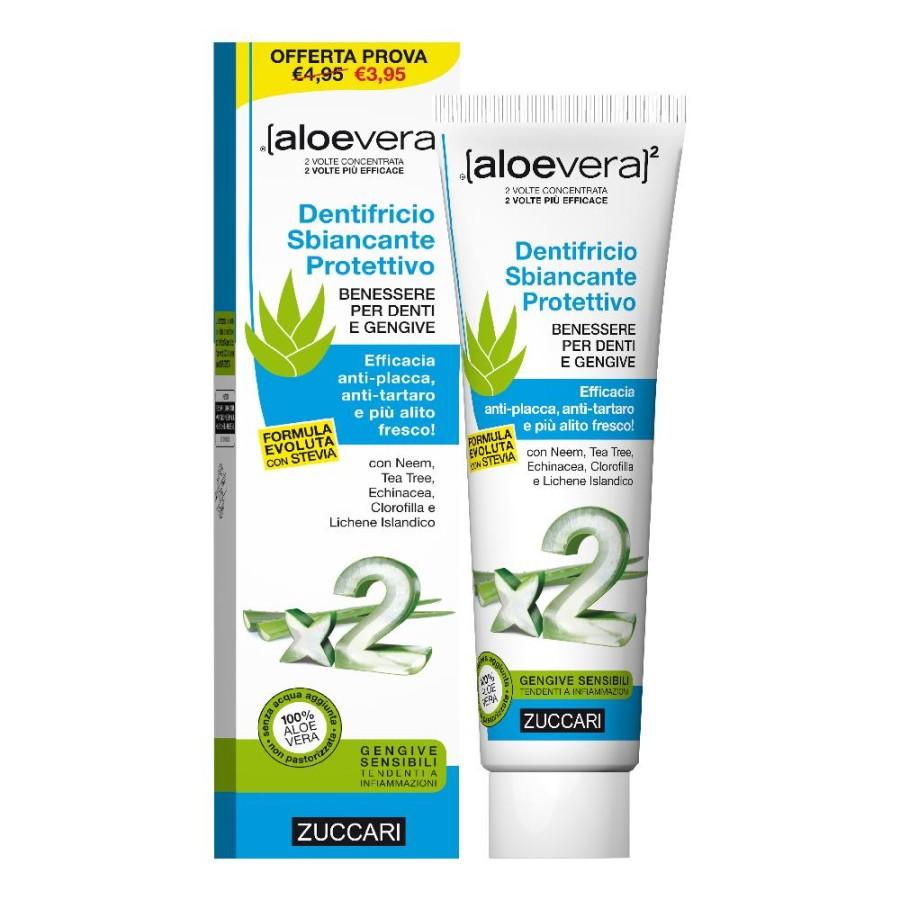 Zuccari Aloevera2 Dentifricio Sbiancante Protettivo Con Stevia 100 Ml