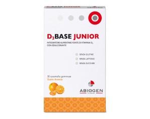 Abiogen Pharma D3base Junior 30 Caramelle Gommose Arancia