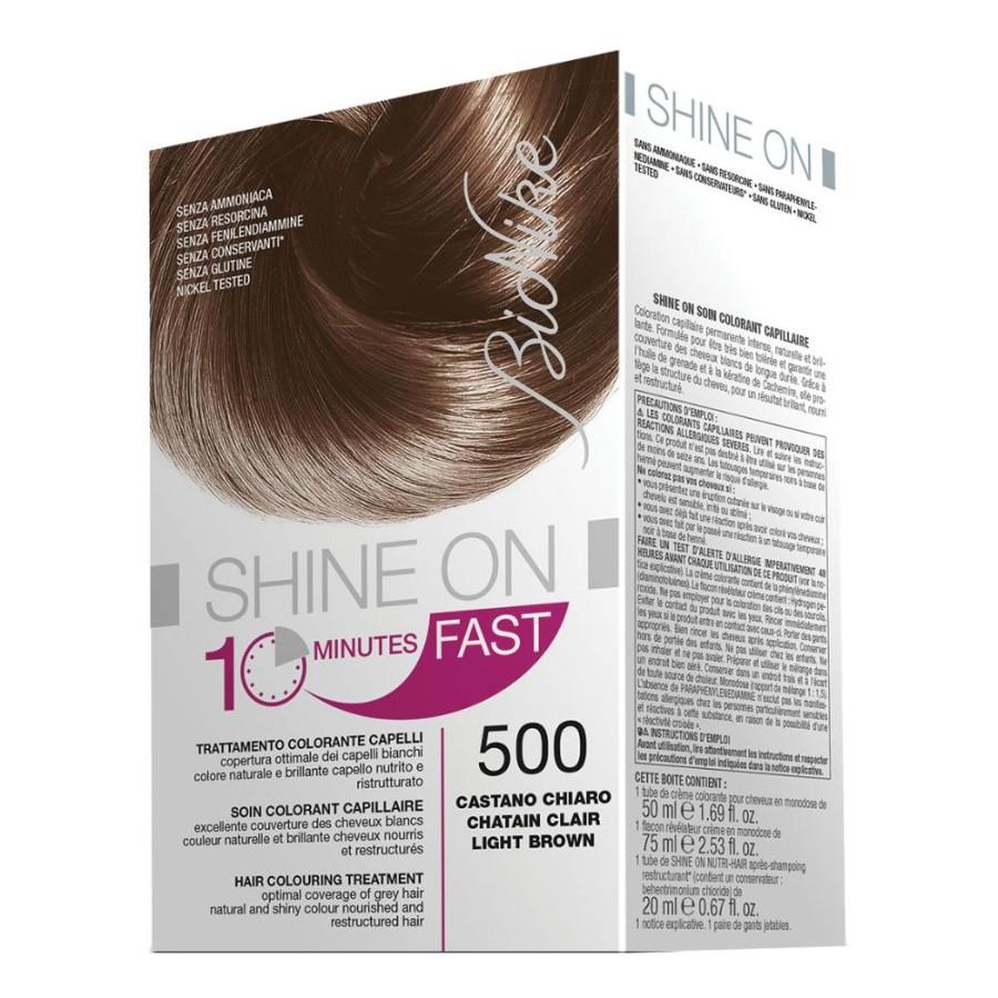 BioNike  Colorazione Shine ON Fast Trattamento 10 Minuti 500 Castano Chiaro