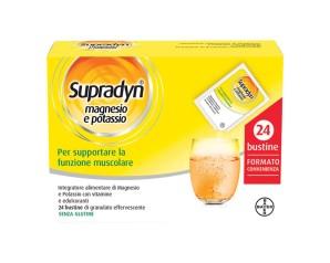 Bayer Supradyn Integratore Alimentare Magnesio e Potassio 24 Bustine