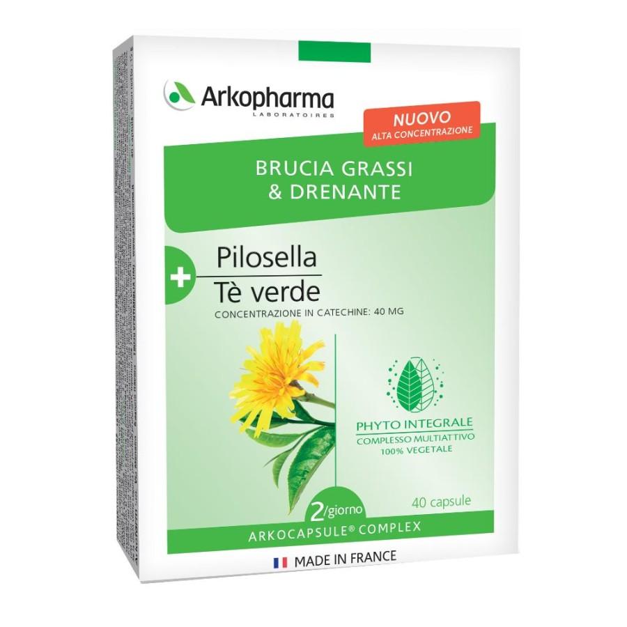 Arkofarma Arkocapsule Complex Snellente Bruciagrassi e Drenante 40 Capsule