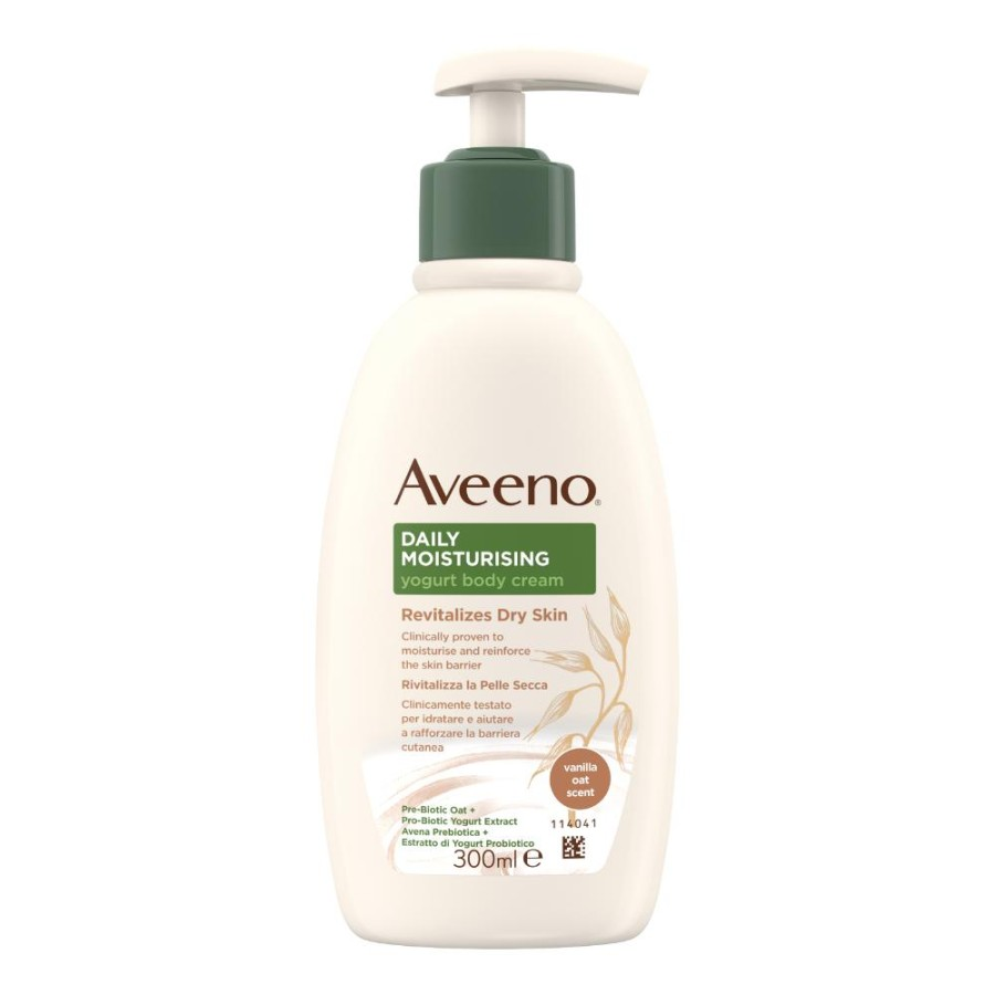 Johnson & Johnson Aveeno Crema Corpo Yogurt Vaniglia & Avena 300 Ml