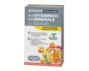 Uragme Puro Multivitaminico E Multiminerale + Baobab 30 Stick Orosolubili