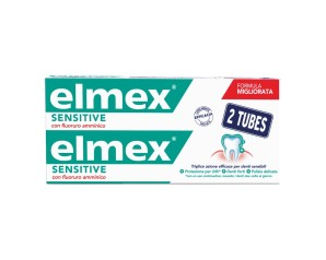 Colgate Palmolive Linea Dentale Elmex Sensitive Dentifricio Bitubo 2x75 ml