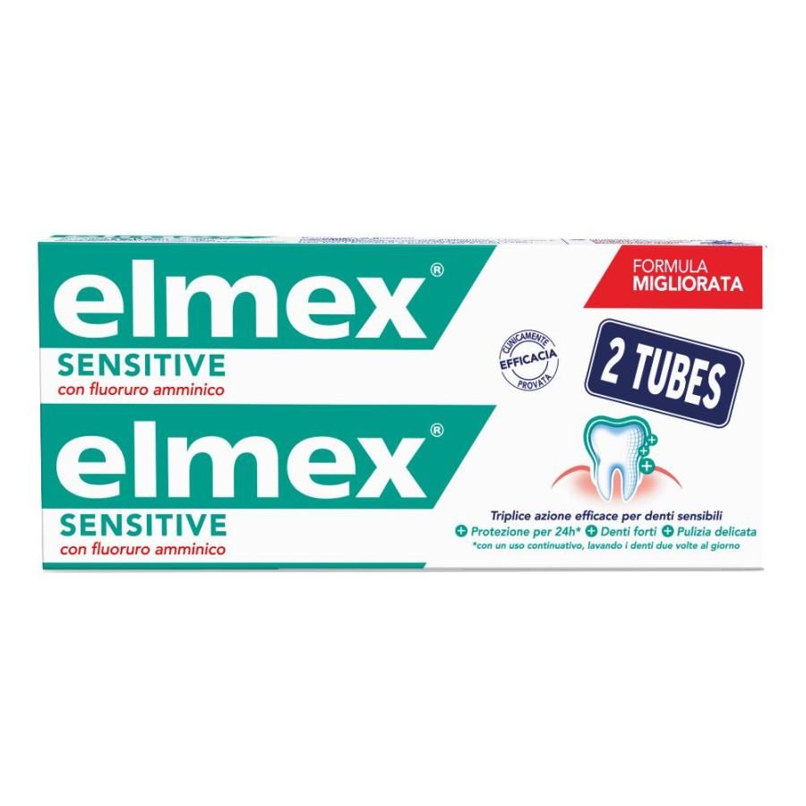 Colgate Elmex Sensitive Dentifricio Bitubo 2x75 Ml