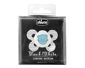 Chicco Artsana PhysioForma Black White Comfort Succhietto Tettarella Silicone 0-6m 1 Pezzo Limited Edition